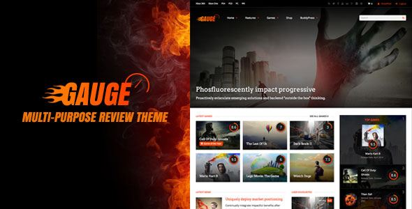 Gauge WordPress Theme free download