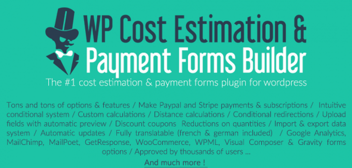 Cost Estimation & Payment Forms Builder WordPress Plugin free download